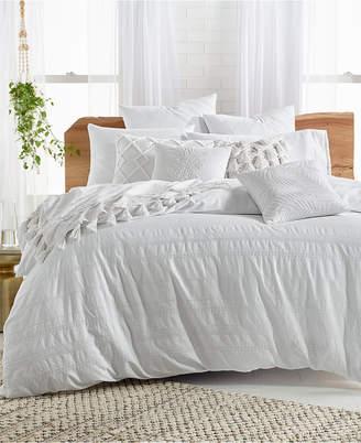 Lucky Brand Stripe Embroidered Full/Queen Duvet Cover Set Bedding