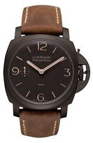Panerai Men's Luminor 1950 47mm Brown Leather Band IP Steel Case Mechanical Dial Watch PAM00375