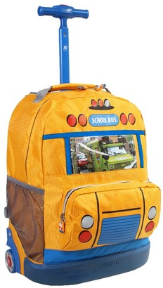 "J World 8"" School Bus Rolling Backpack -"