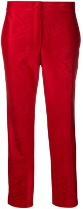 Koché Jacquard Pattern Straight-Leg Trousers