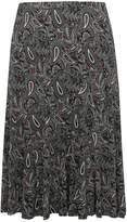 M&Co Plus paisley print flippy skirt
