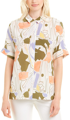 Lafayette 148 New York Remy Silk Blouse