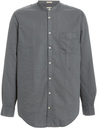 Massimo Alba Striped Cotton Button-Down Shirt