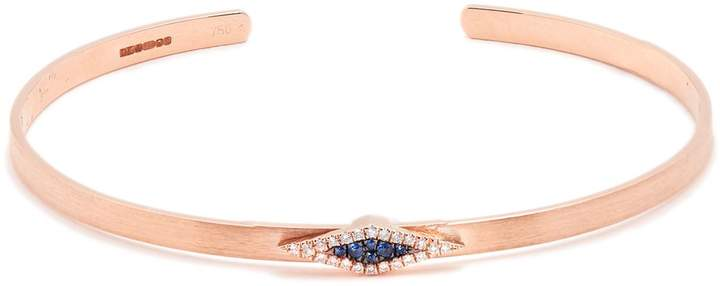 Diane Kordas Diamond, sapphire & rose-gold Evil Eye cuff