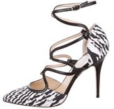 Monique Lhuillier Pointed-Toe Print Pumps w/ Tags