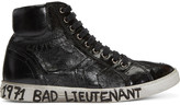 Saint Laurent Black bad Lieutenant Joe Mid-top Sneakers