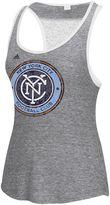 adidas Women's New York City FC Pearl Logo Lace Back Tank Top