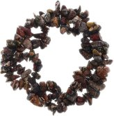 FANTASIA Gallery: 1 pc Hand Made Natural Leopardskin Jasper Gemstone Chip Triple Strand Braided Stretch Bracelet for Adults and Children