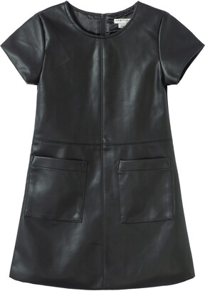 Habitual A-Line Faux Leather Dress