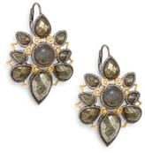 Alexis Bittar Pyrite, Labradorite & Swarovski Crystal Mosaic Drop Earrings