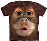 The Mountain Brown Big Face Baby Orangutan Crewneck Tee - Men's Regular