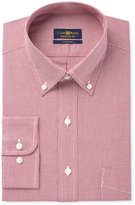 Club Room Estate Men's Classic-Fit Wrinkle-Resistant Cranberry Houndstooth Dress Shirt, Only at Macy's
