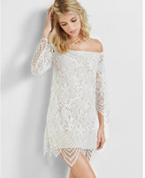 Express off the shoulder lace dress