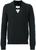 Maison Margiela chunky knit v-neck sweater - men - Polyamide/Wool - S
