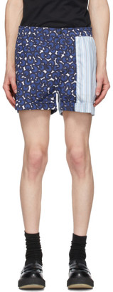 Neil Barrett Blue Multi-Print Shorts