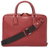 Z Zegna Leather Laptop Bag