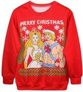 Snlydtan Girl Boy Merry Christmas Prince Princess Sweatshirt Clothing