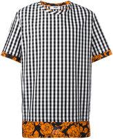 MSGM gingham floral T-shirt - men - Cotton - 46