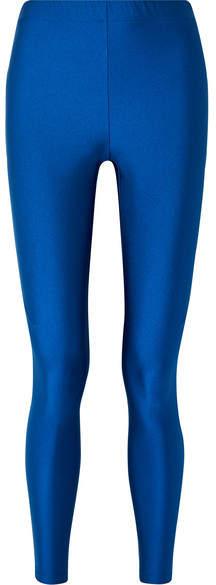 Gucci Striped Metallic Tech-jersey Leggings - Blue