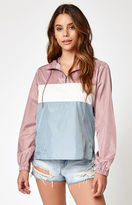 La Hearts Colorblock Half Zip Windbreaker Jacket