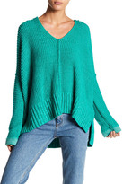 Free People Take Over Me V-Neck Knit Sweater