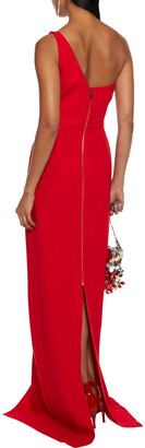Roland Mouret Istana One-shoulder Draped Wool-crepe Gown