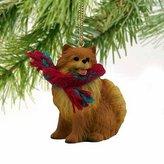 Mini A Ture Conversation Concepts Pomeranian Miniature Dog Ornament - Red