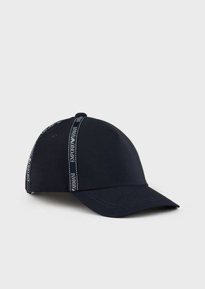 Emporio Armani Nylon Baseball Cap With Logo Tape