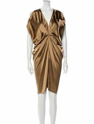 Zero Maria Cornejo Silk Knee-Length Dress
