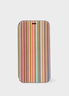 Paul Smith 'Signature Stripe' Leather iPhone 11 Pro Wallet Case
