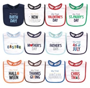 Hudson Baby Boys and Girls Cotton Bibs