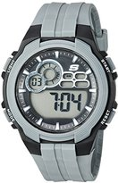 Skechers Men's Quartz Plastic Casual Watch, Color:Grey (Model: SR1090)