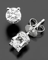 14k White Gold Filigree Diamond Stud Earrings (1 ct. t.w.)