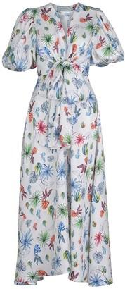 Silvia Tcherassi Lirio Floral Print Sleeveless Dress