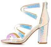 Charlotte Russe Qupid Iridescent Floating Strap Caged Sandals