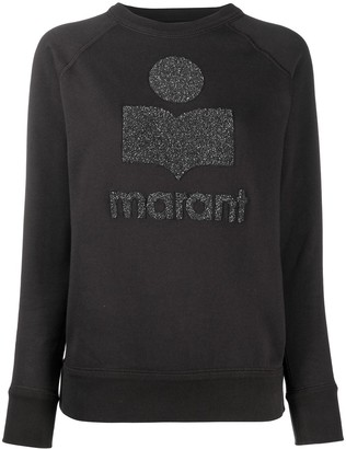 Etoile Isabel Marant Milly glitter logo-print sweatshirt