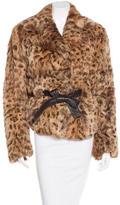 Yves Salomon Leopard Print Fur Coat