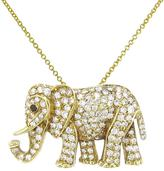 Jennifer Meyer Diamond Elephant Pendant Necklace - Yellow Gold