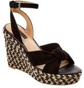 Frye Women's Charlotte Twist Suede Wedge Sandal.