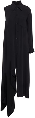 MM6 MAISON MARGIELA Asymmetric Draped Cady Mini Dress