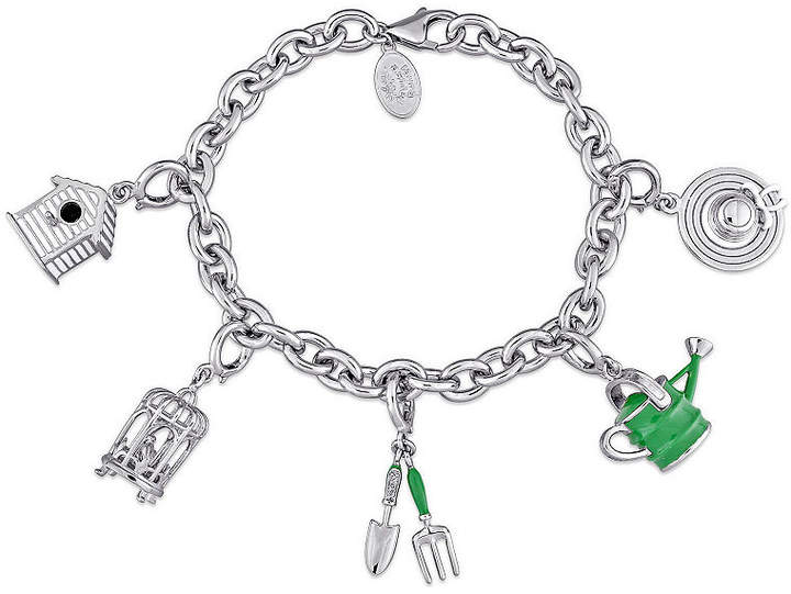 Garden Collection FINE JEWELRY Laura Ashley Womens 5-pc. White Sapphire Sterling Silver Bracelet Set