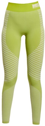 Ahmworld Conscious Yoga Leggings In Pure Lime