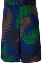 Sacai fern print shorts - men - Polyester/Cupro - 2