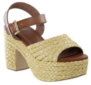 Mia Whitney Raffia Platform Women's Shoes