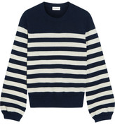 Saint Laurent Striped Cashmere Sweater - Navy