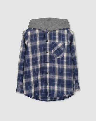 Milky Hooded Check Shirt - Teen