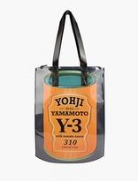 Y-3 Black 'can' Zip Tote Bag