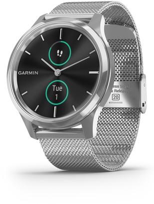 Garmin vivomove(R) Luxe Mesh Strap Hybrid Smartwatch, 42mm