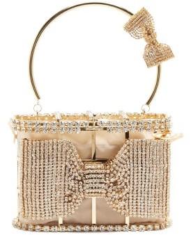 Rosantica Holli Amelia Crystal-embellished Cage Clutch Bag - Crystal