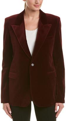 Saint Laurent Velvet Silk Jacket